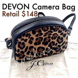 "J.Crew ""DEVON"" Camera Crossbody Shoulder Bag ~ LEOPARD"
